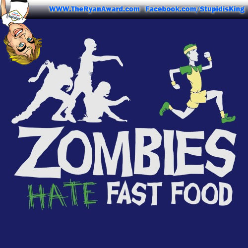 Funny Picture! Zombies Hate Fast Food!