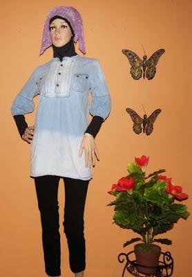 Grosir baju bahan jeans AJ935