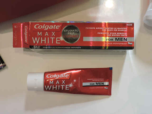 colgate max white for men dentifricio