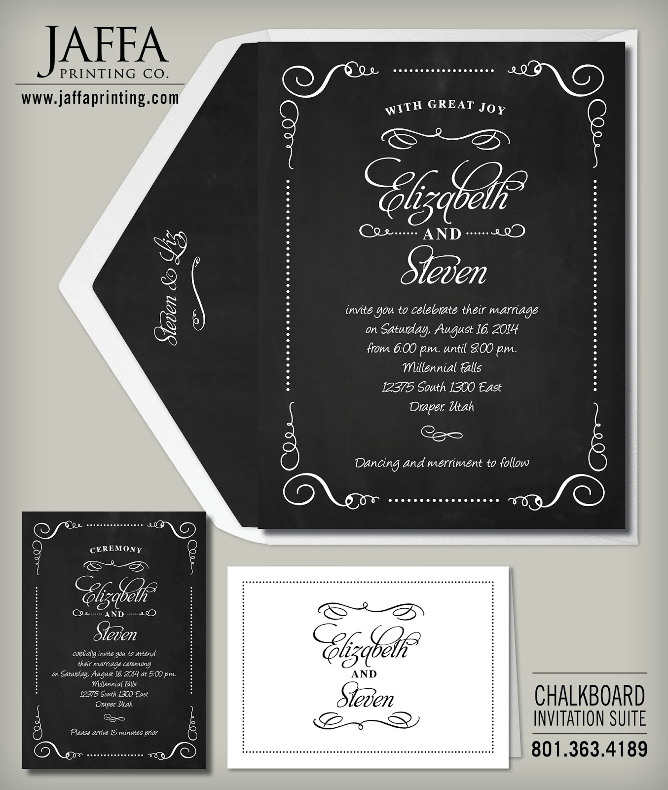 Wedding Invitation Blog: Chalkboard Wedding Invitations