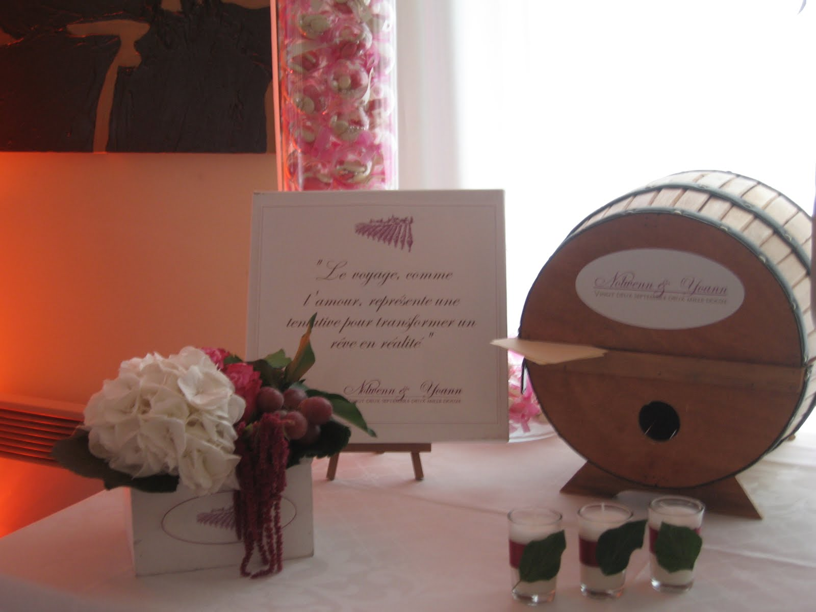 le secret des receptions cuv e privil ge un th me sur le vin. Black Bedroom Furniture Sets. Home Design Ideas