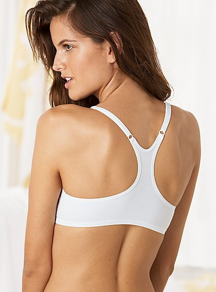 Bra categories white racerback bra
