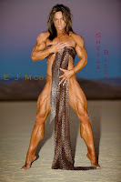 Sheila Bleck Posing Her Ripped Muscles In The Sand For EJMCoPhotography
