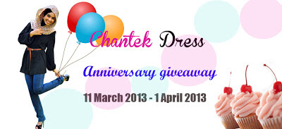 Chantek Dress Special Anniversary Giveaway!