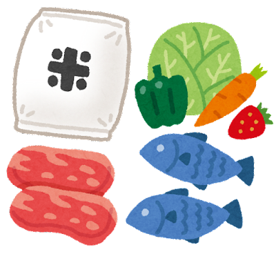 生鮮食品のイラスト(軽減税率)
