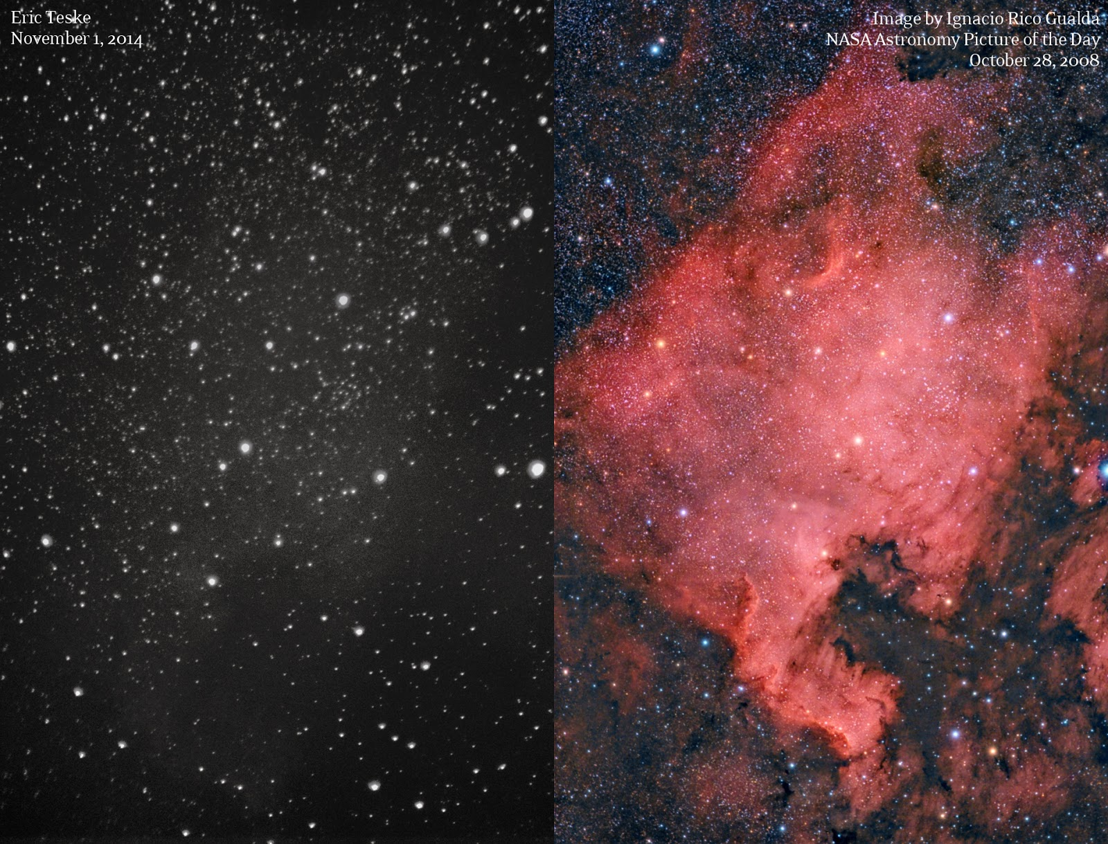 north america nebula compare