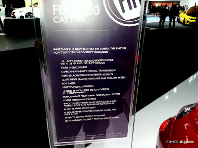 Fiat 500T Cattiva feature list