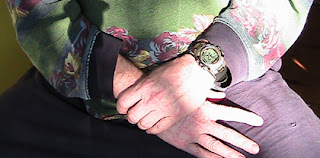 soothing gesture holding wrist