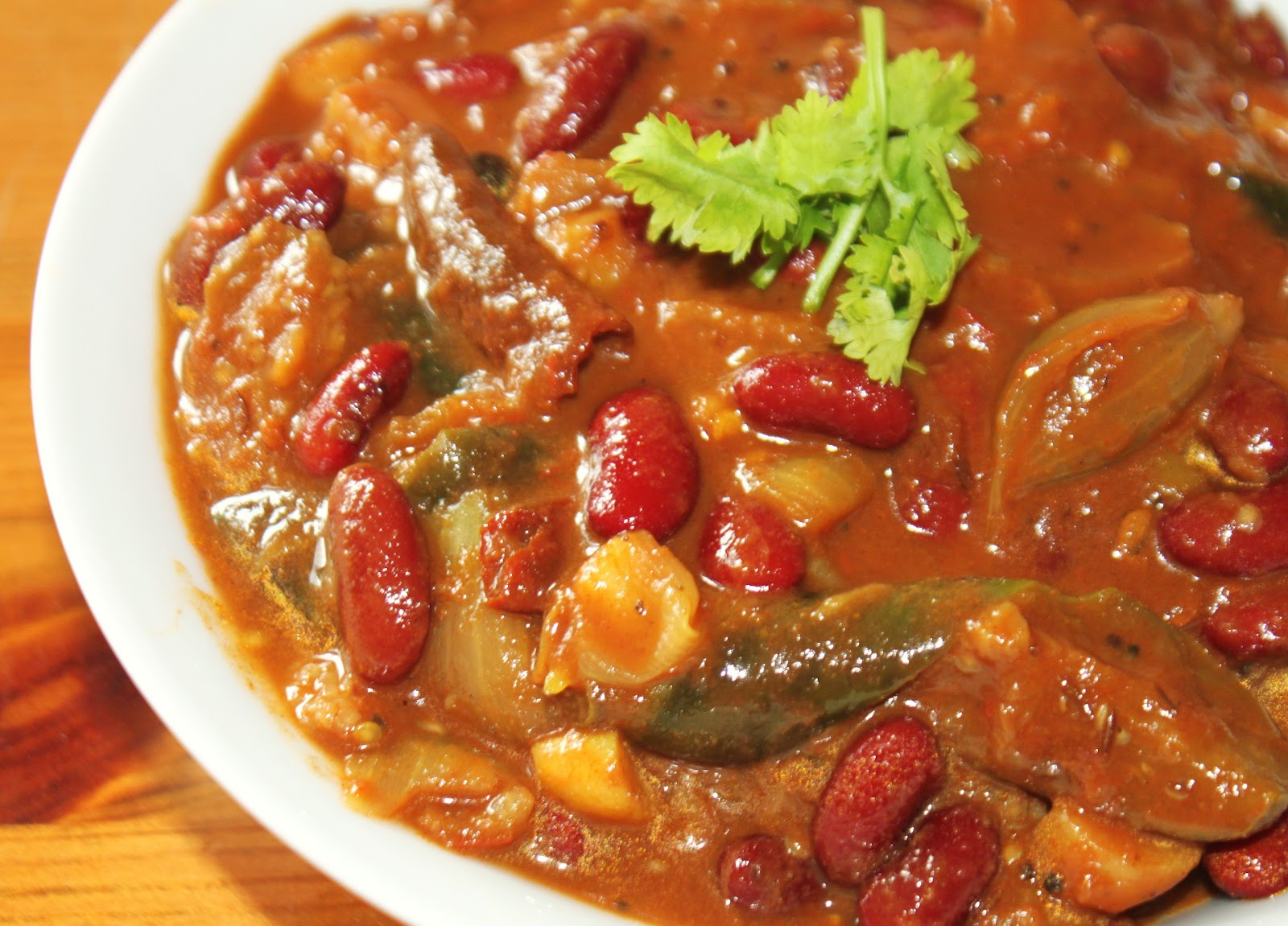 Curries & Chutneys: Red Beans & Egg Plant Curry