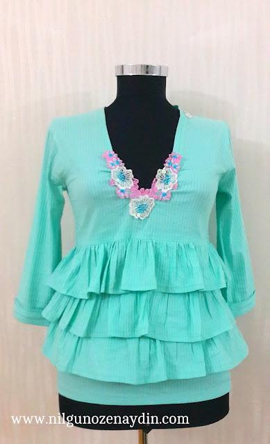 www.nilgunozenaydin.com-fırfırlı bluz-bluz dikimi-bluz modelleri-farklı bluz modelleri-cam göbeği bluz-sewing a frilly blouse