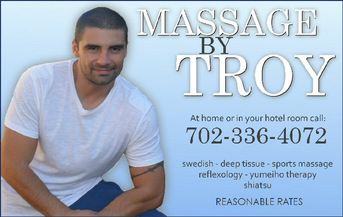 TROYAD600W Have your massage on site at Blue Moon Hotel for Men and enjoy free day pass ...