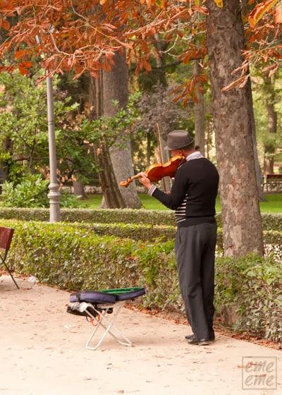 Otoño, musica, parque del Retiro