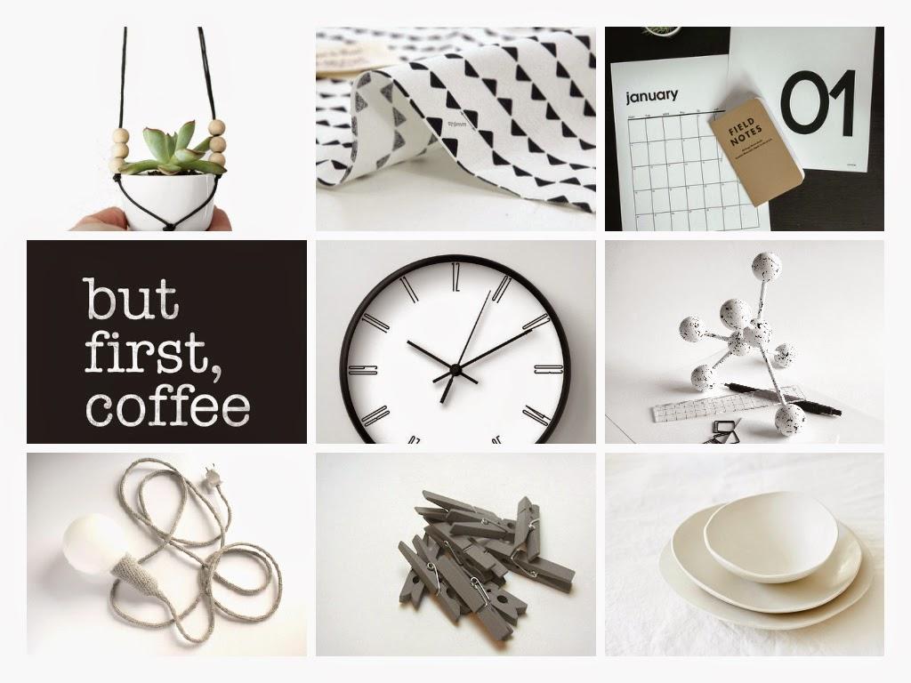 blanco y negro, diseño, nimimalistas, complementos casa, regalos, rebajas, tiesto colgante, tela, calendario, póster, reloj, lámpara, pinzas, platos cerámica, dekoloop
