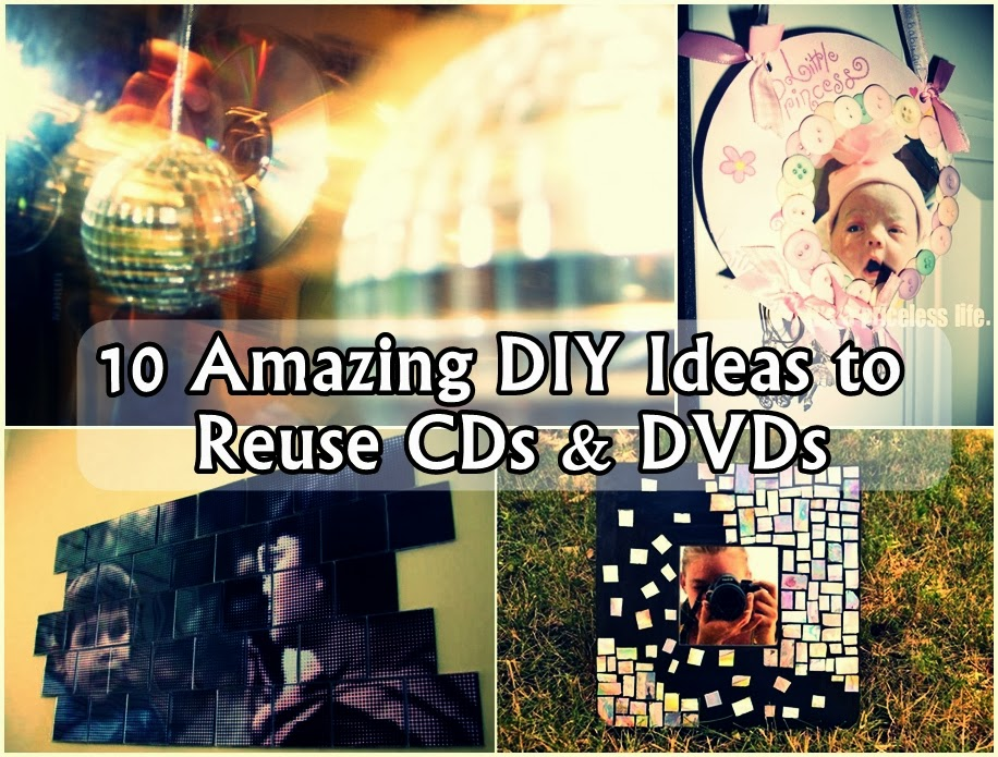 10 Amazing DIY Ideas to Reuse CDs & DVDs
