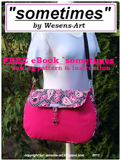Bag 'sometimes' free sewing pattern     wesens-art.blogspot.com
