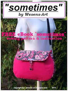 Bag 'sometimes' free sewing pattern     wesens-art.blogspot.com