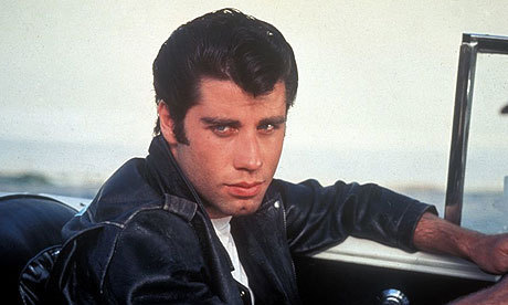 A still of Danny Zuko, played by John Travolta, from the movie Grease.