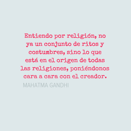 Reflexion sobre la religion