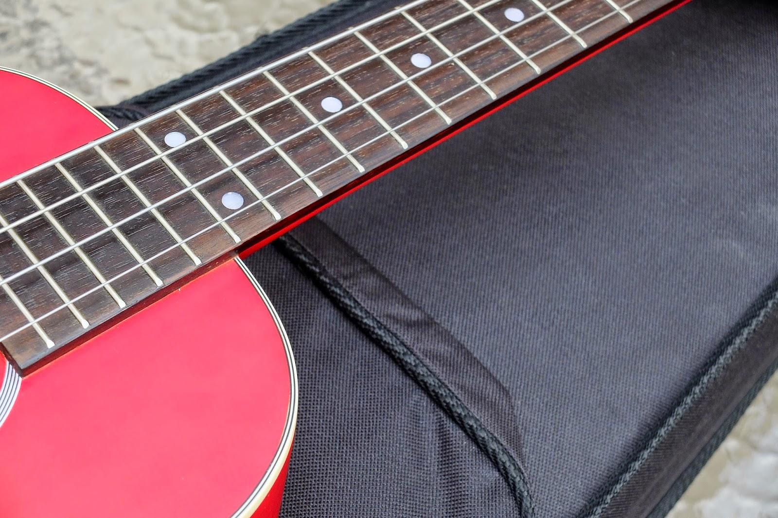 Kamoa E3E Ukulele Bass fingerboard