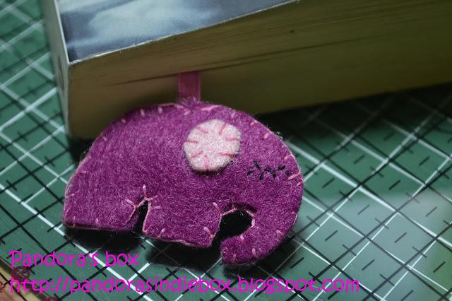 Handmade felt bookmark - Elephant