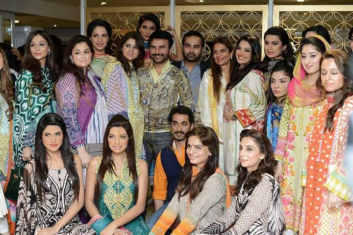 FARAZ MANAN's Crescent Lawn 2014 launch