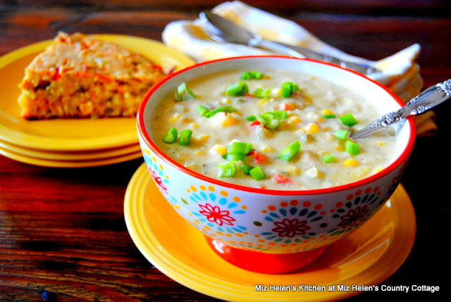 Corn Chilies and Chicken Chowder at Miz Helen's Country Cottage