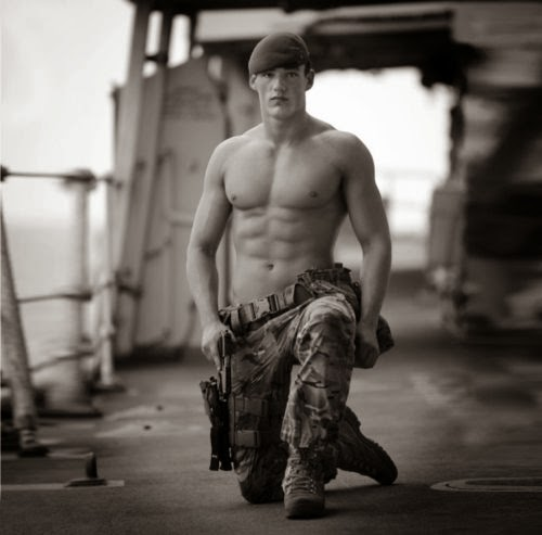 Shirltess Royal Marines show their stuff for charity calendar