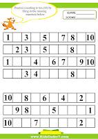 Sample Missing Numbers Worksheet Template