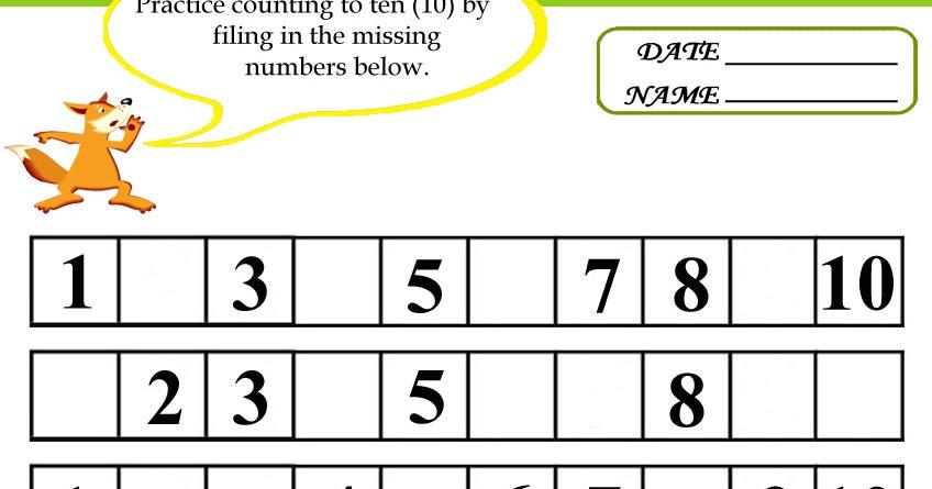 missing number worksheet: NEW 627 MISSING NUMBER ...