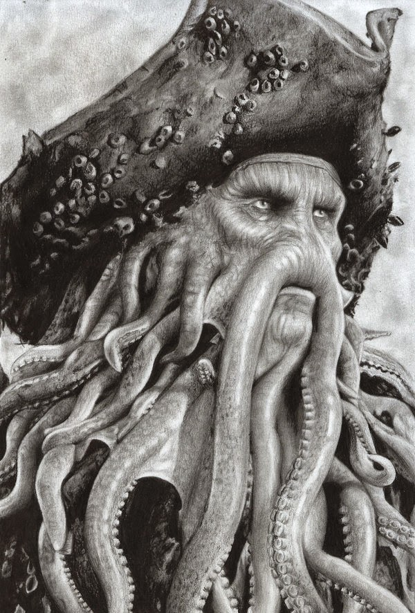 11-Pirates-of-the-Caribbean-Davy-Jones-Daisy-van-den-Berg-How-To-Draw-a-Realistic-www-designstack-co