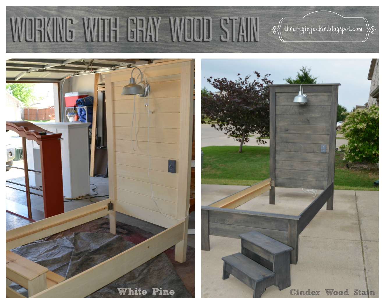 Achieving the Perfect Gray Wood Stain theartgirljackietutorials