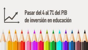 Un 7% del PIB para una educación pública de calidad