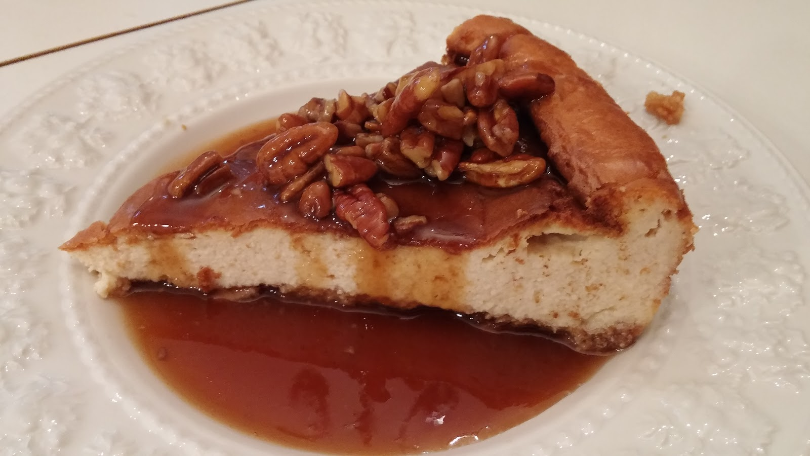 Ghosts of Pasta Past: Rum Cheesecake with Hot Caramel Rum ...