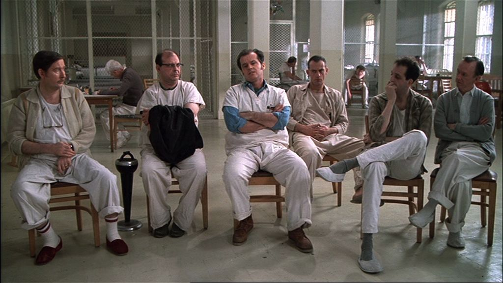 one flew over the cuckoo s nest rdquo milos foreman the film some of the inmates appear a bit odd but look basically functional others are catatonic or are lost in their own dream worlds