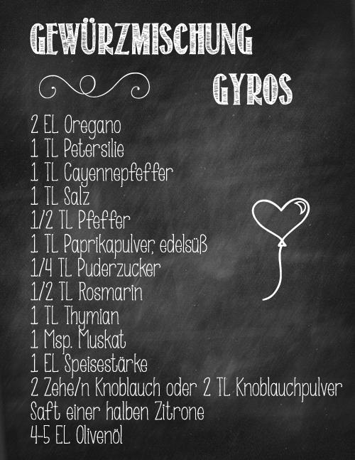Gewürzmischung Gyros
