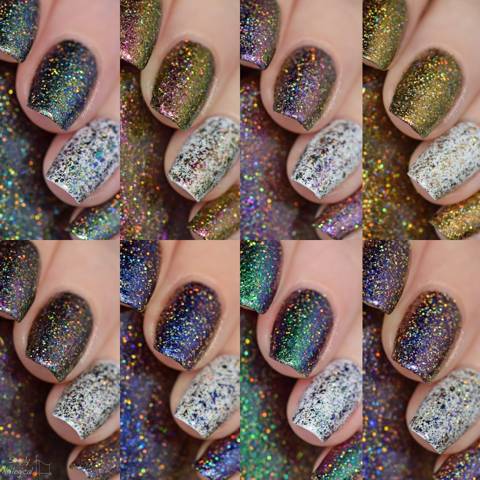 Starrily - Heavenly holos swatches