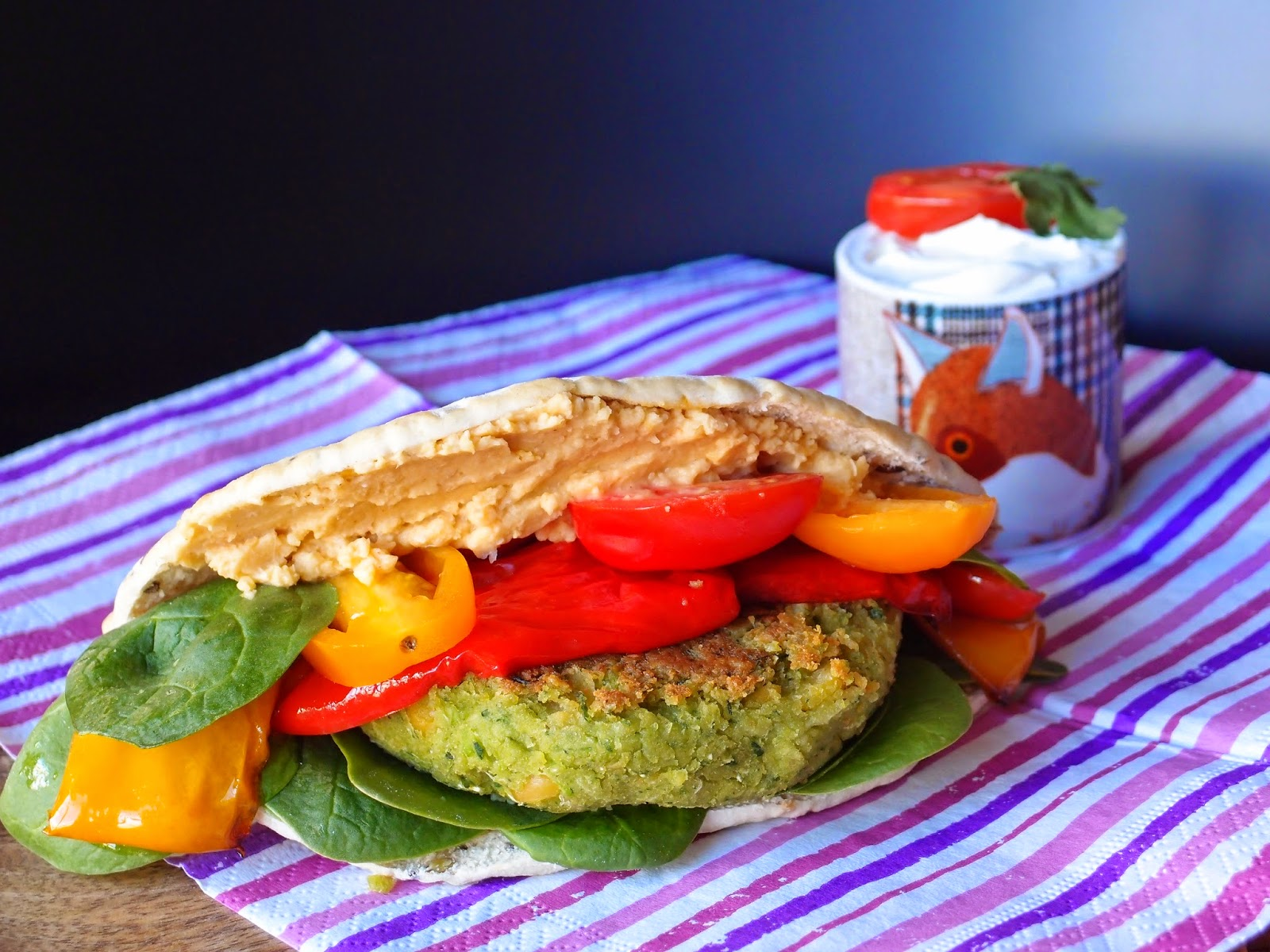 The VegHog: The VegHog's falafel burgers
