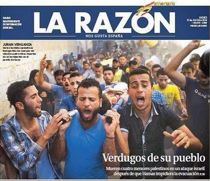 Supuesto periodismo en el panfleto 'La Razón'