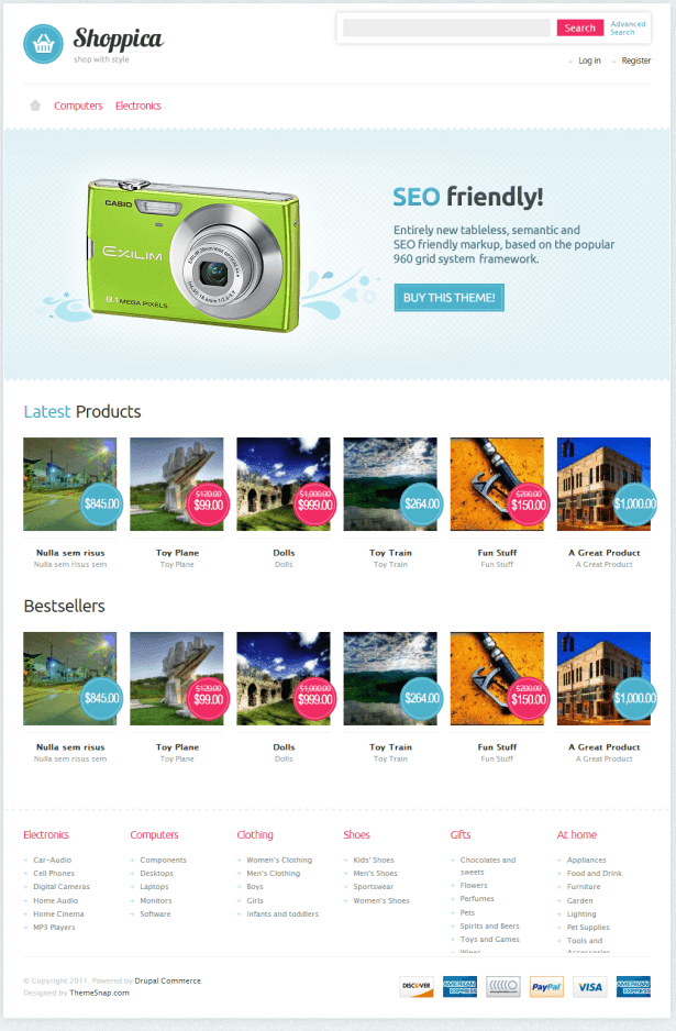 Shoppica Drupal theme
