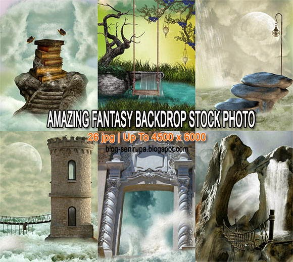 Amazing Fantasy Backdrop Stock Photo