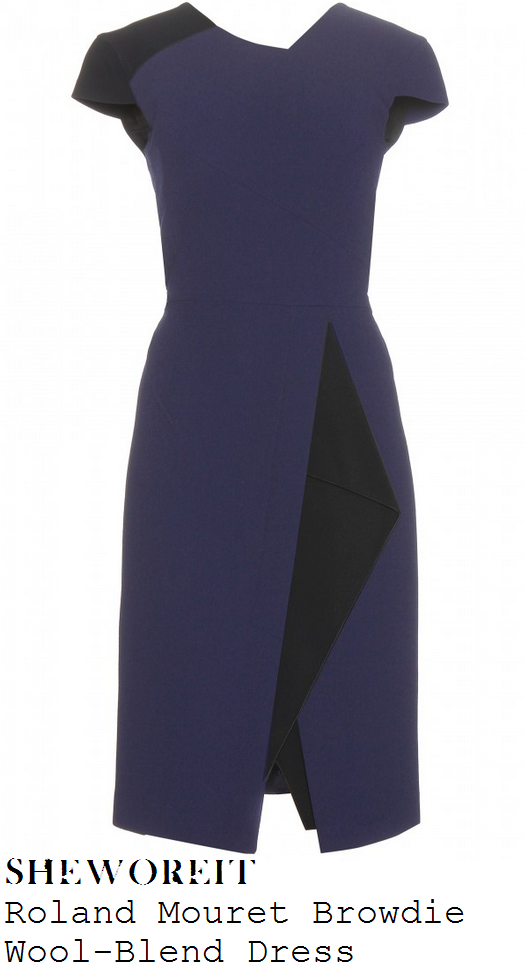 holly-willoughby-nay-blue-black-fold-detail-pencil-dress-this-morning