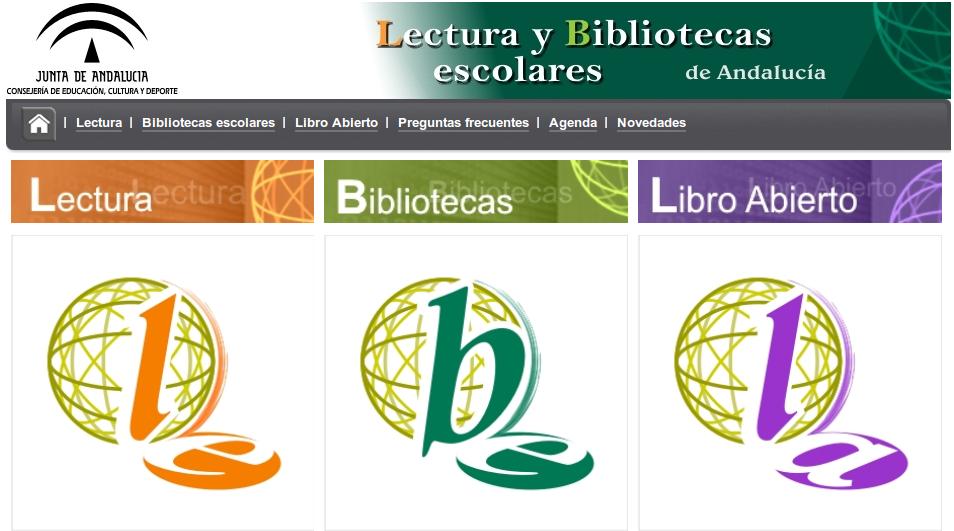 Lecturas y bibliotecas escolares de Andalucía