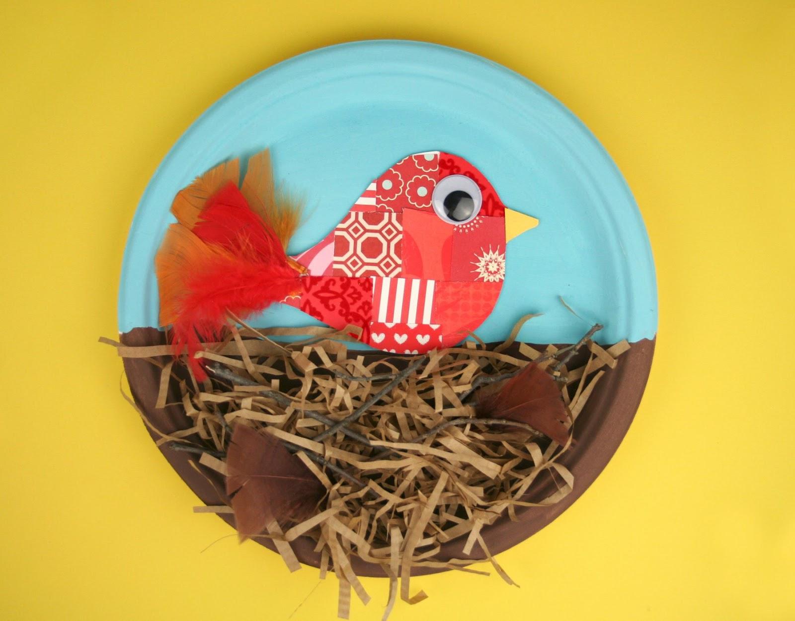 Bird nest craft bing images for Baby bird nest craft