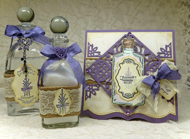 ODBD stamps, Lavender, Apothecary Bottles, Joy in a Jar, designed by Grace Nywening
