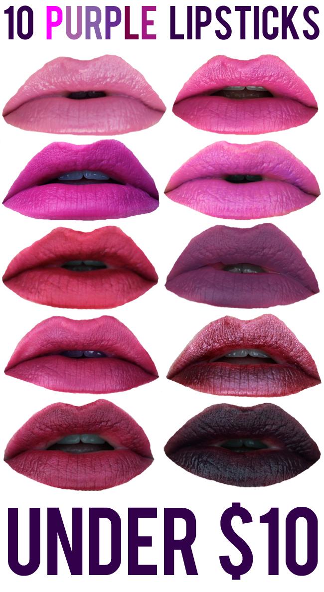 BEAUTY: 10 Purple Lipsticks Under $10 | Neon Rattail