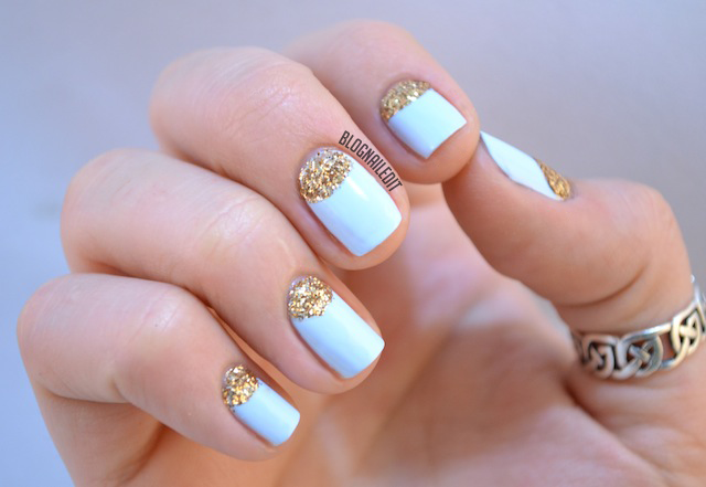 glitter online before, and I love the pastel paired against the gold