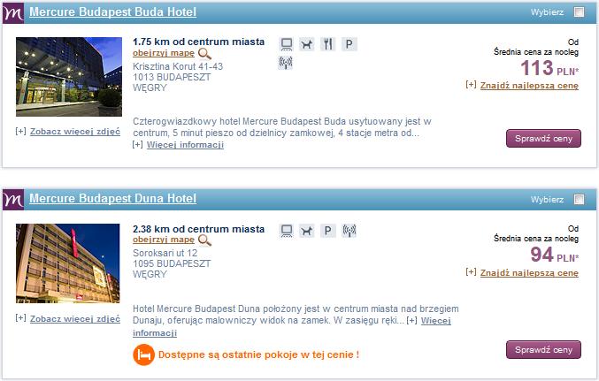 hotele Accor Budapeszt promocja