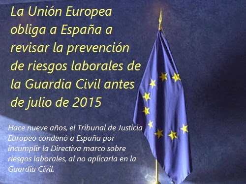 MobbingMadrid La UE obliga a España a revisar la PRL de la Guardia Civil antes de julio de 2015