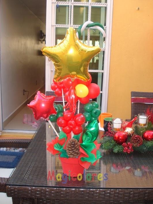 Magicolores globos una buena idea para navidad - Centro de mesa navideno ...