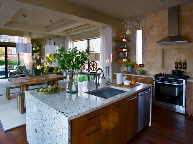 Hgtv Small Kitchen With Breakfast Bar And Butcher Block Ideas